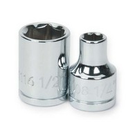 Shallow Sockets Chrome 6 Point