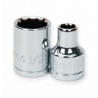 Shallow Sockets Chrome 12 Point