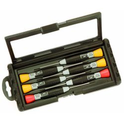 Bahco Precision Screwdriver Set 4 Slotted and 2 Pozidrivᆴ