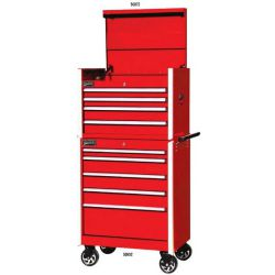 Williams 5 Drawer Commercial Rollcab Cabinet, Red