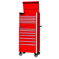 Williams 7 Drawer Commercial Rollcab Cabinet, Red